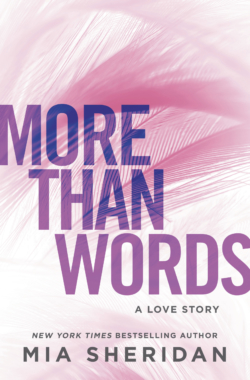 MORE THAN WORDS Cover – Mia Sheridan