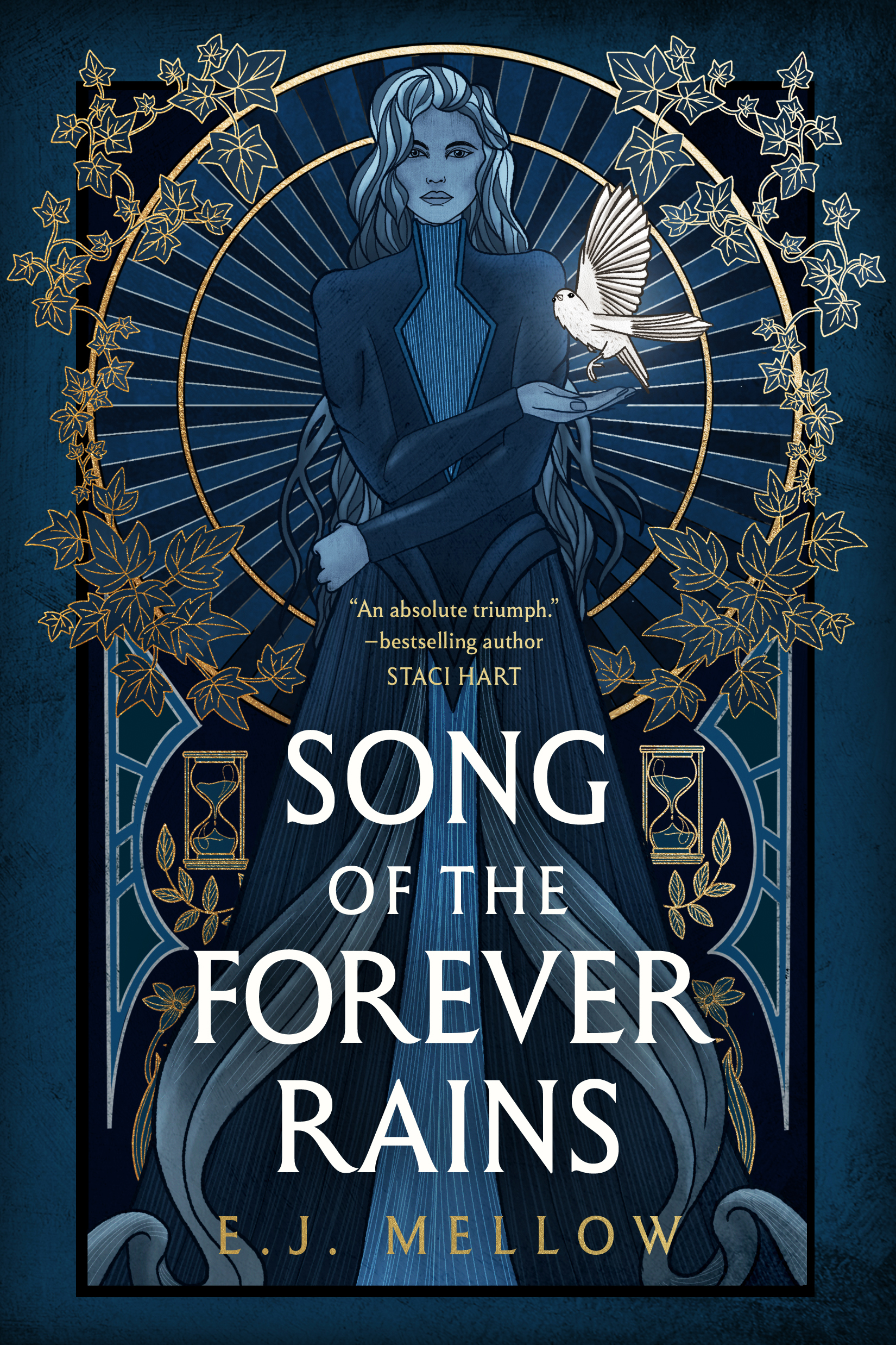 SONG OF THE FOREVER RAINS (Mousai #1) Cover – E.J. Mellow